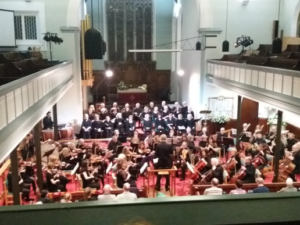 Ormskirk Orchestra and Choir playing